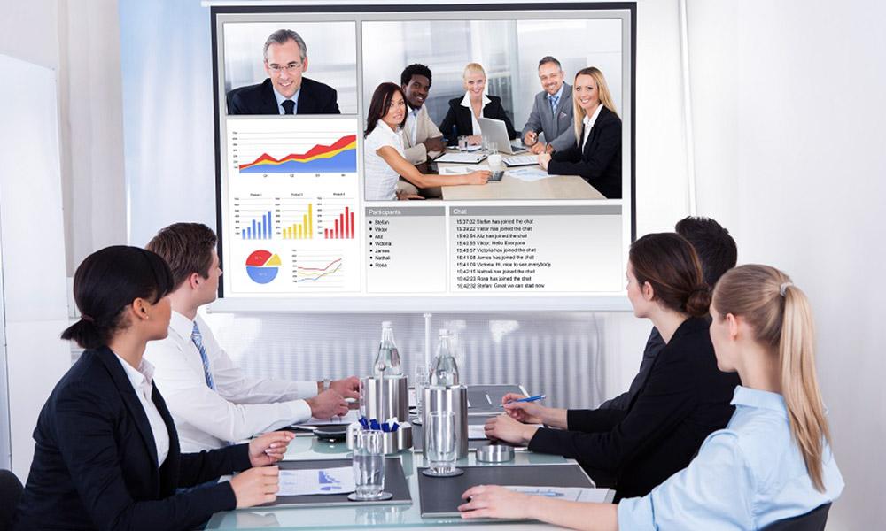 progettazione sala riunioni aziendale webconference